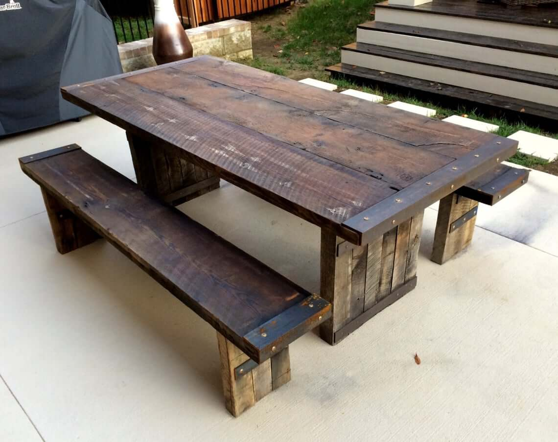 Recycled Wood Makes a Table With History