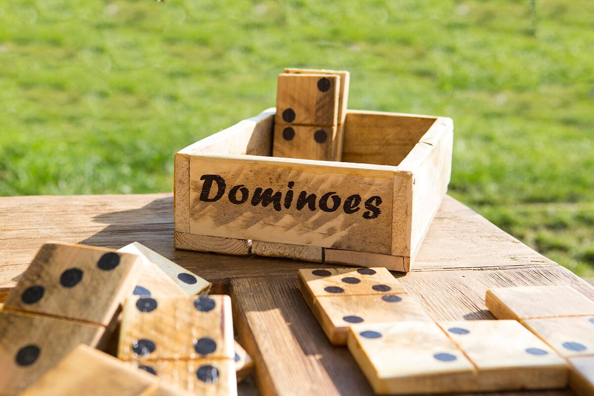 Large Wooden Dominoes Garden Game