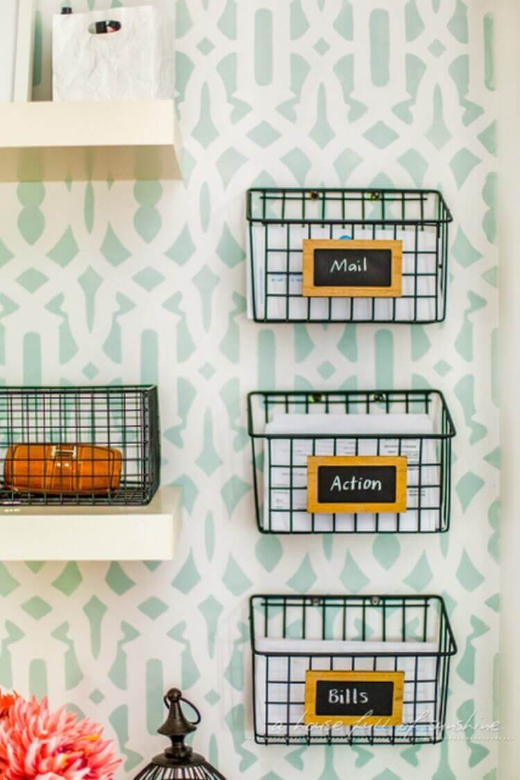 Essential Organization in Labeled Wire Letter Baskets
