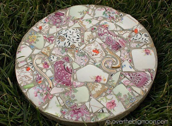 Mostly Mosaic Masterpiece Garden Stepping Stone