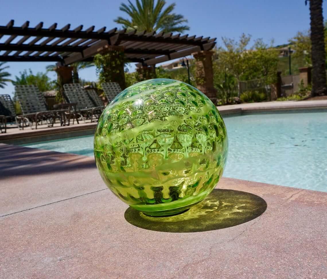 Dazzling Decorative Green Glass Fortune Ball