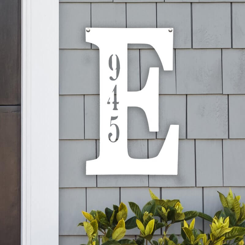 1-Line Metal Wall Address Plaque