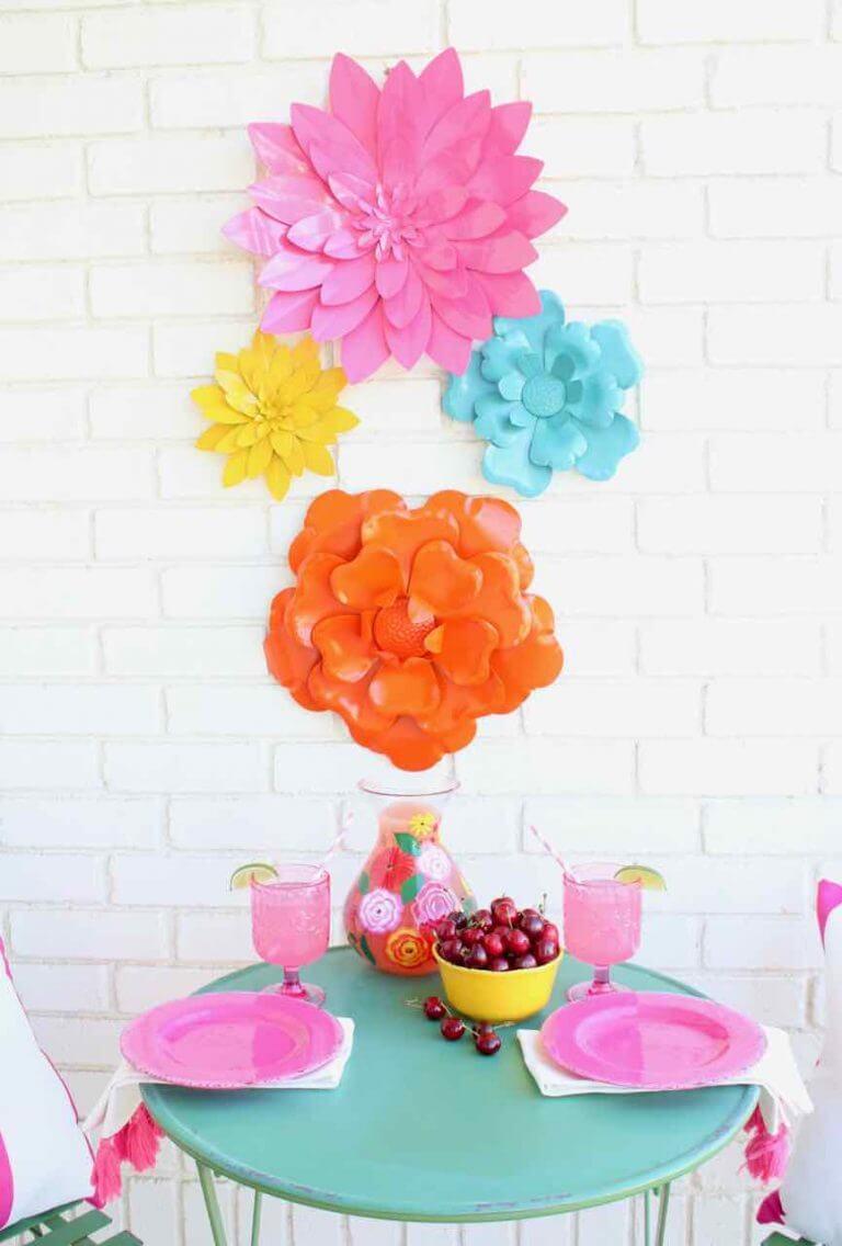 Brilliant Pink Matching Porch Setup