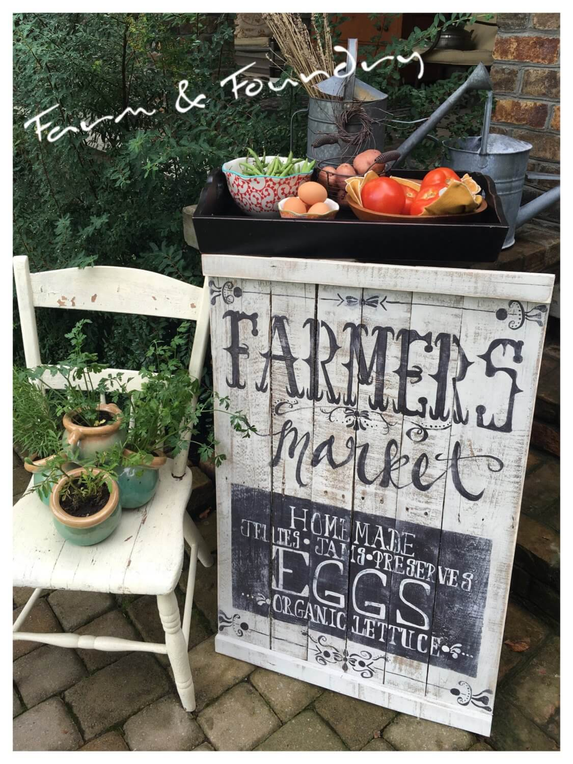 Hand Painted Farmers Market Pallet Sign
