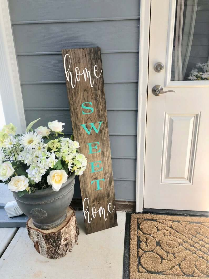 Home Sweet Home Custom Wooden Sign