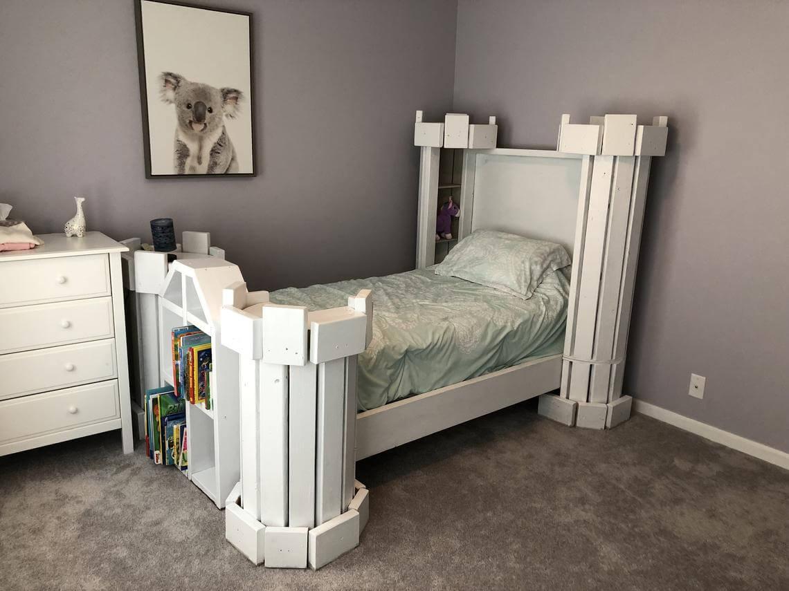 Bold Fairytale Castle Bed Plans