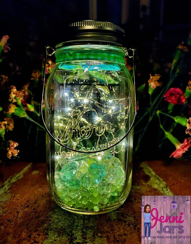 Glowing and Green Twinkle Lights Lantern