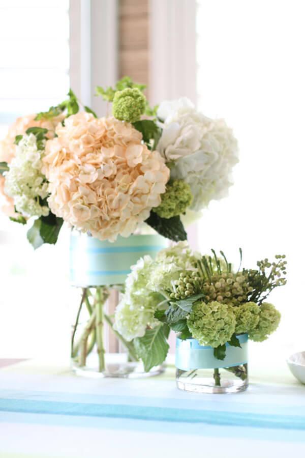 Compact Fresh Floral Ribbon Arrangement