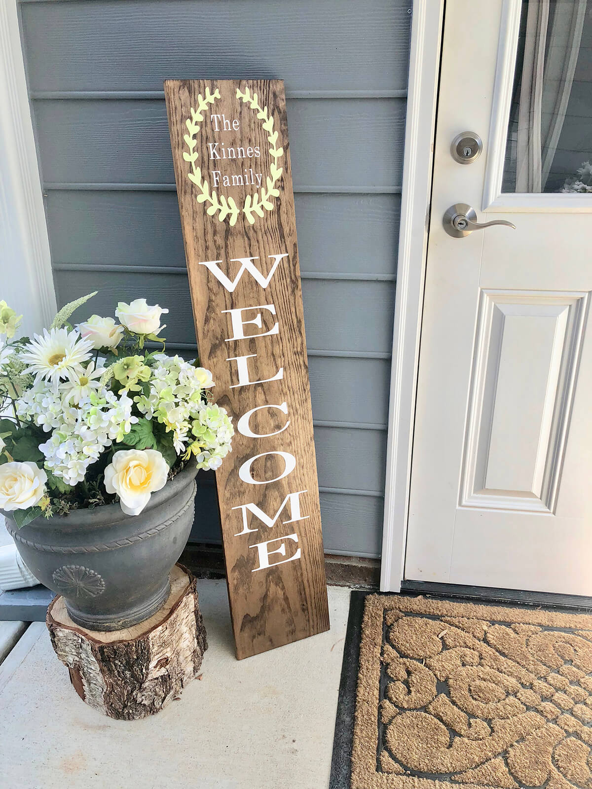 Customizable Family Name Front veranda Sign