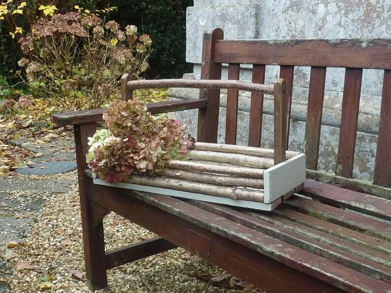 Rustic, Earthly Wooden Garden Trug