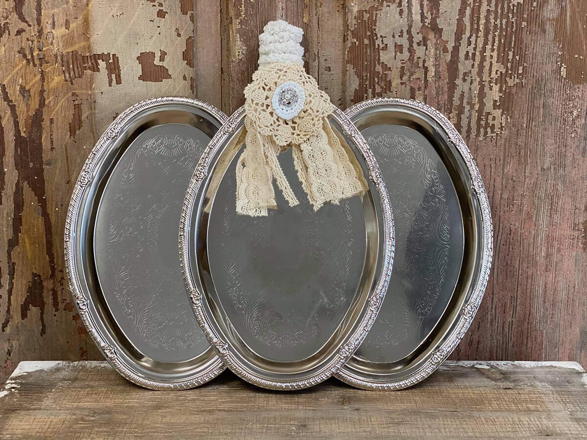 Shabby Chic Old World Serving Platter Decor