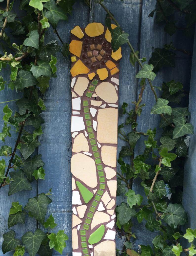Charming Mosaic Sunflower Wall Art