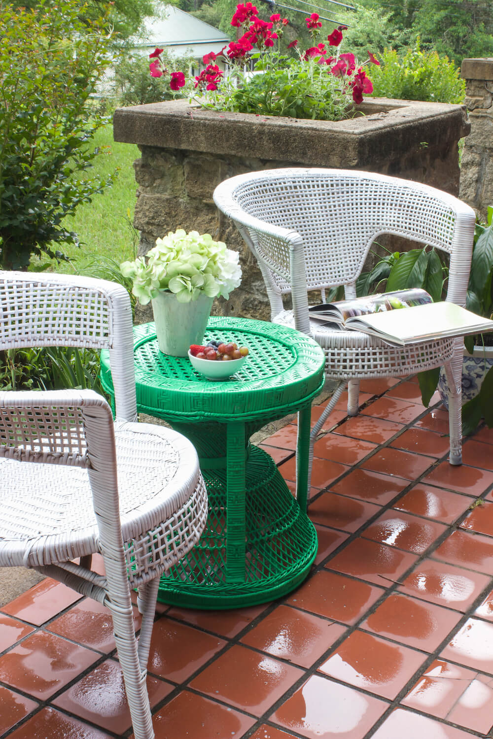 Charming Patio Seating for Your Enjoyment