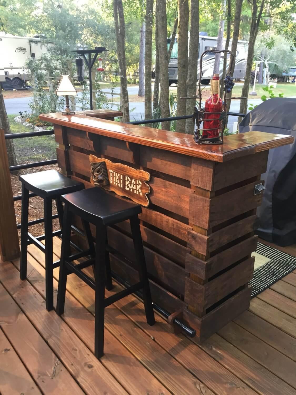 Incredible Tiki Bar Custom Built from Pallets