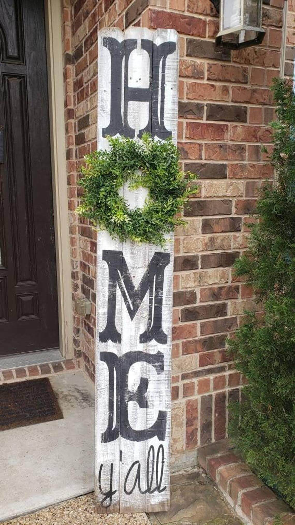 """""""Home"""" Sign with Decorative Wreath"""