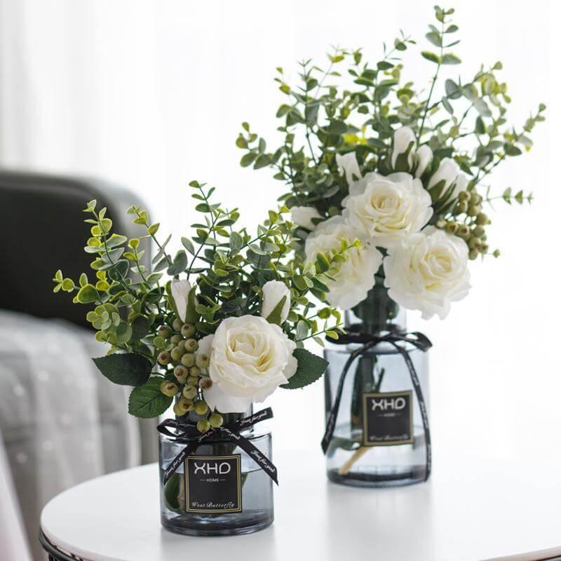 Artificial Silk Rose Flower Arrangements