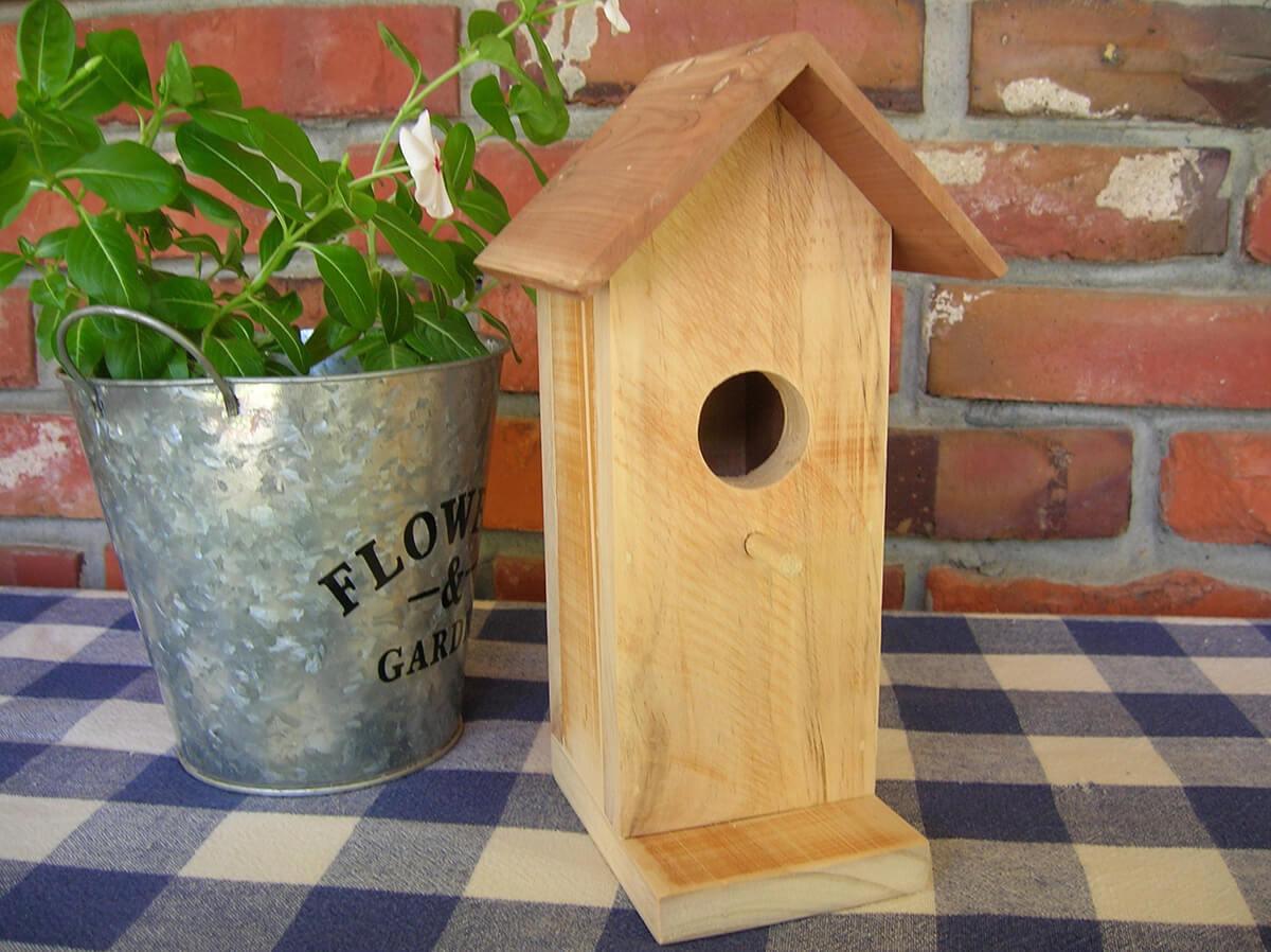 Rustic Decorative Birdhouse with Aromatic Cedar Roof