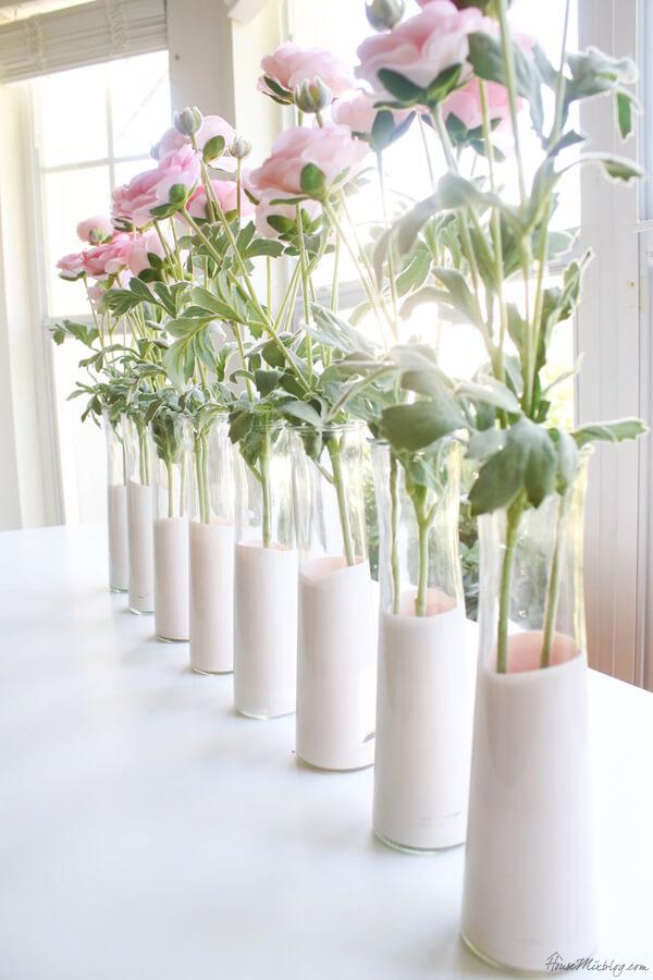The Glass is Half Full Flower Vase