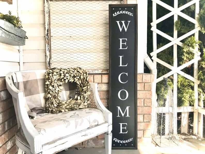 Framed Multicolor Welcoming Wooden Sign