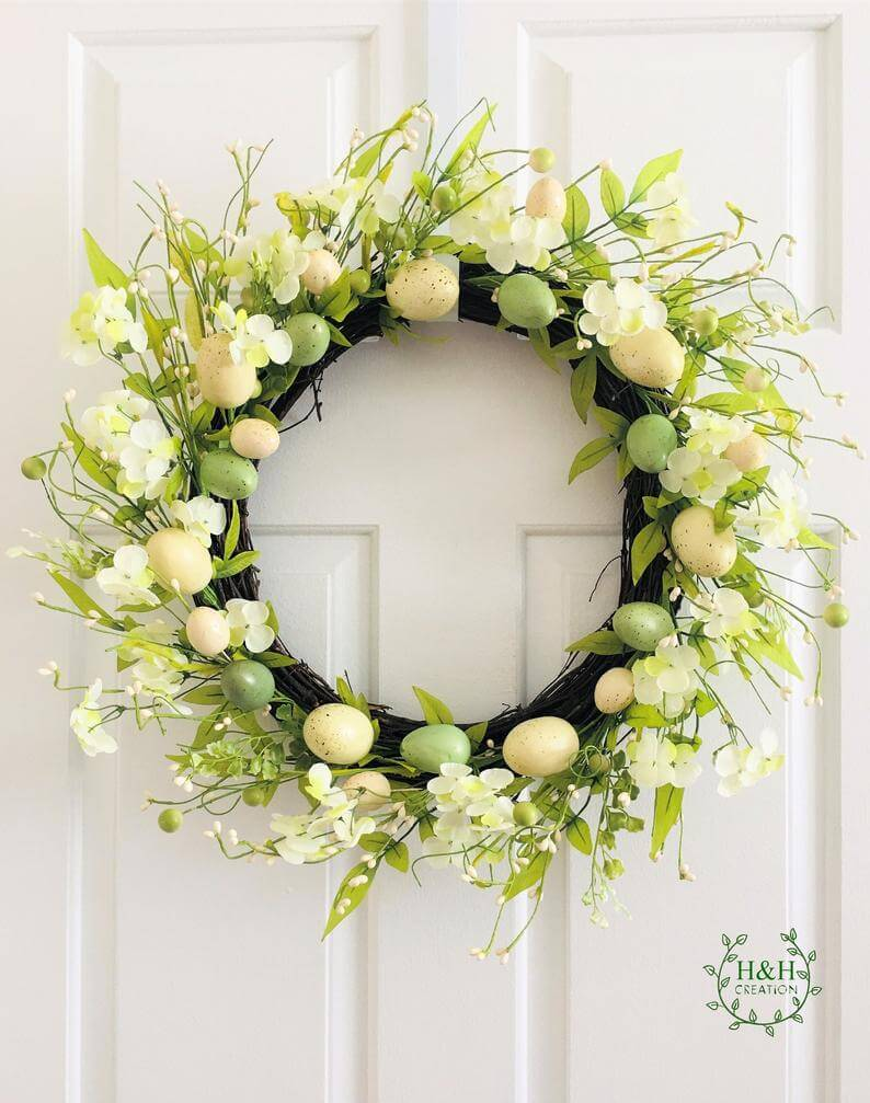 Delicate and Simple Shades of Green Wreath