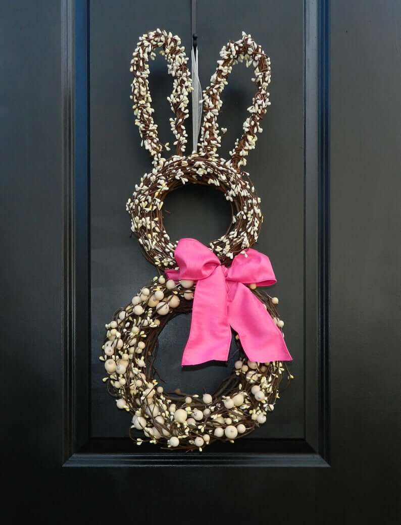 Beautiful Berry Bead Bunny with Pink Bow