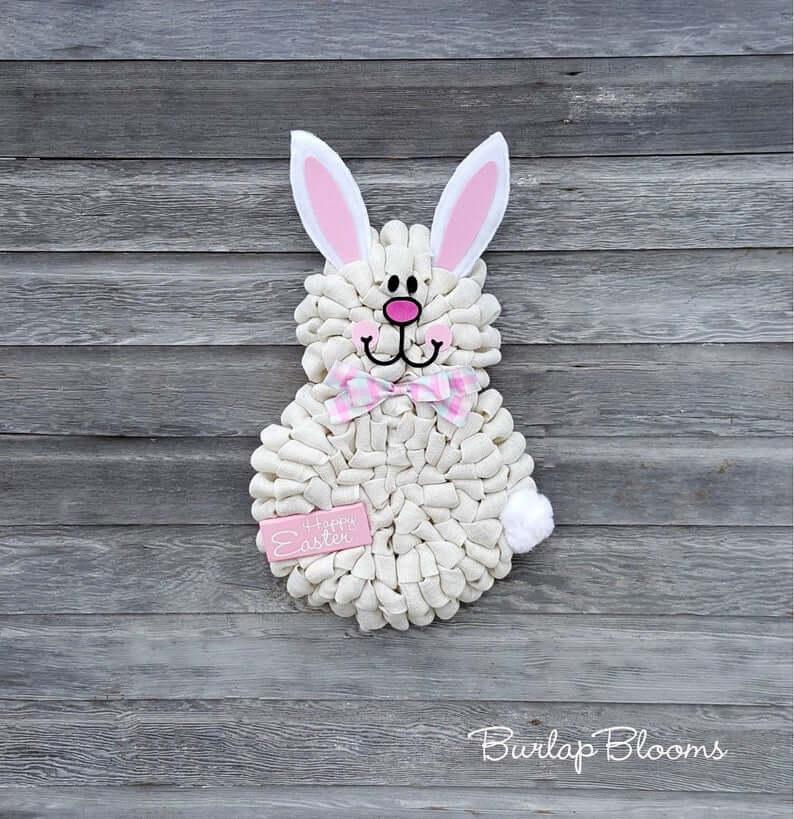Darling White Spring Peep Easter Bunny