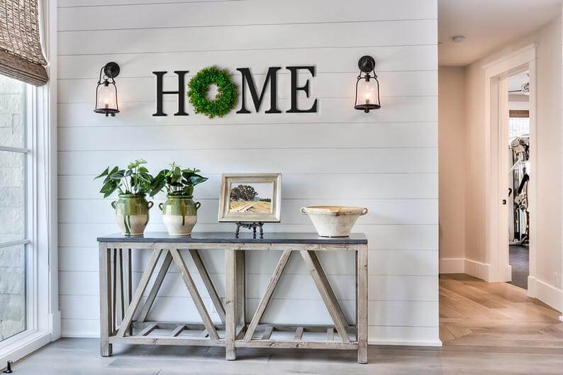 "Large Painted Wooden ""HOME"" Letters"