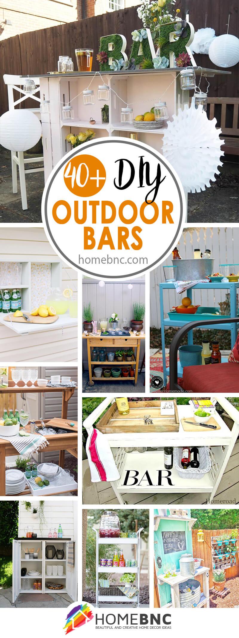 DIY Outdoor Bar Decor Ideas
