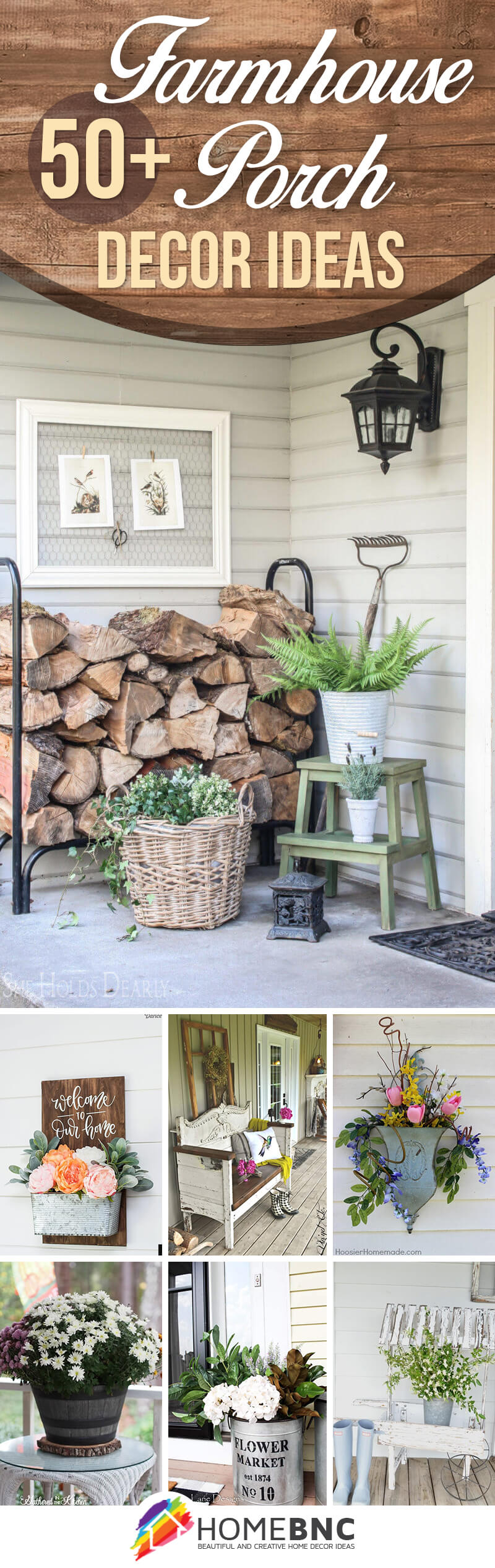 50 Best Rustic Farmhouse Porch Decor Ideas And Designs For 2021