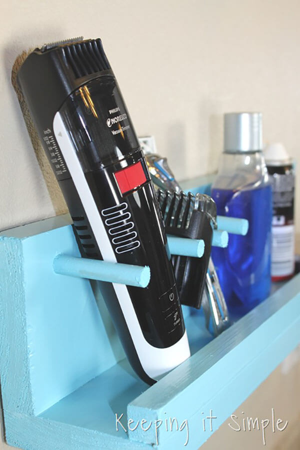 Modern Man's Wooden Shaving Caddy