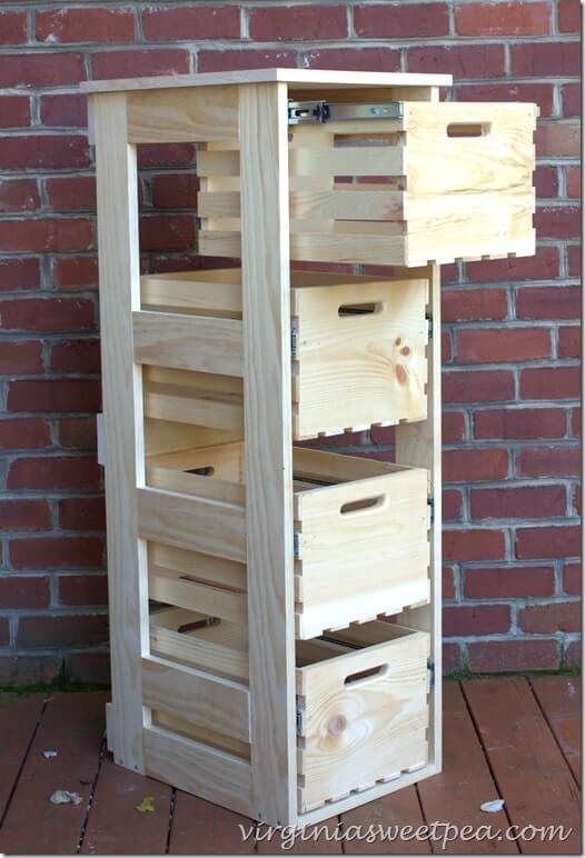 Add a Simple Frame for Crate Drawers
