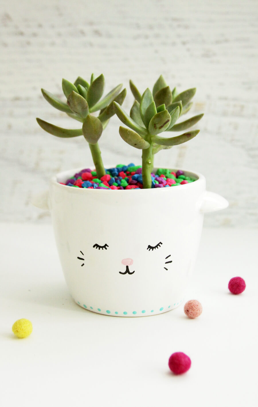 Loveable Llama Teacup Succulent Mini Planter