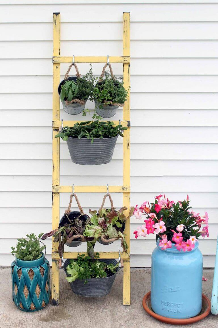 Vertical Herb Garden with Fun Textures