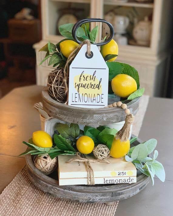 Wooden Sign for Selling Lemons Tag