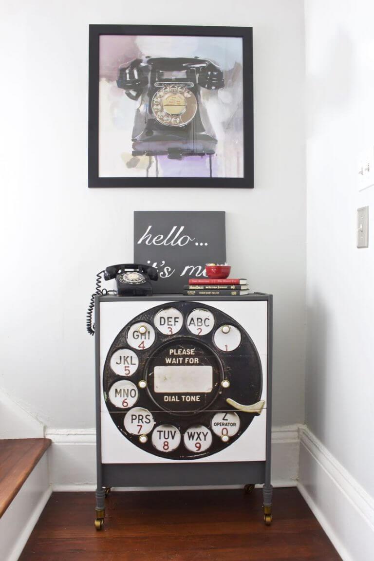Unique and Vintage Poster Furniture Transfer
