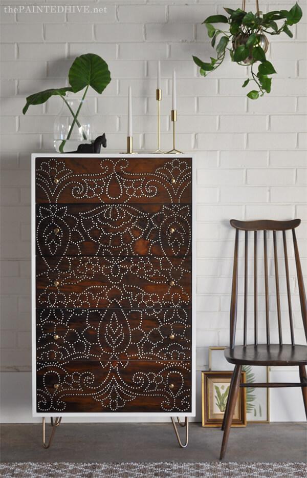 Elegant Drilled Furniture Decor Transfers