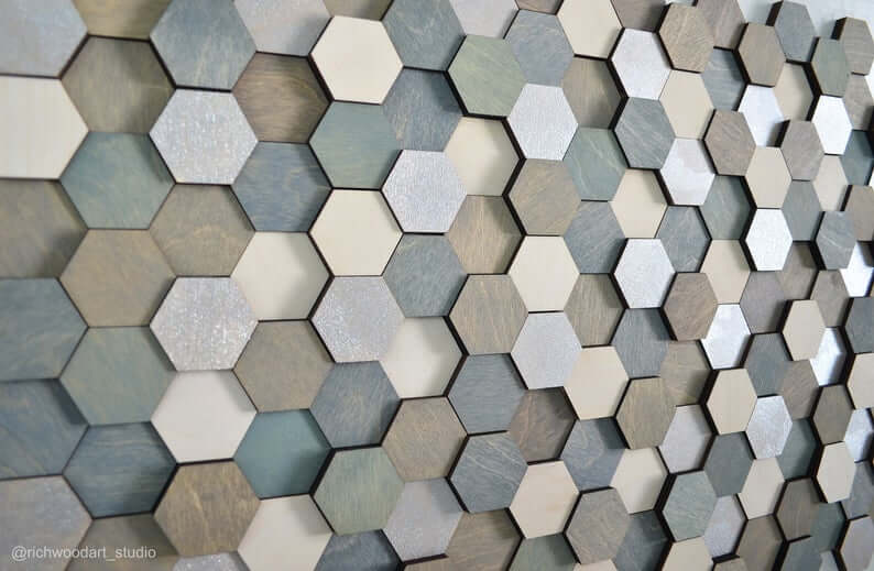 Handmade Hexagon Hanging Wall Sculpture