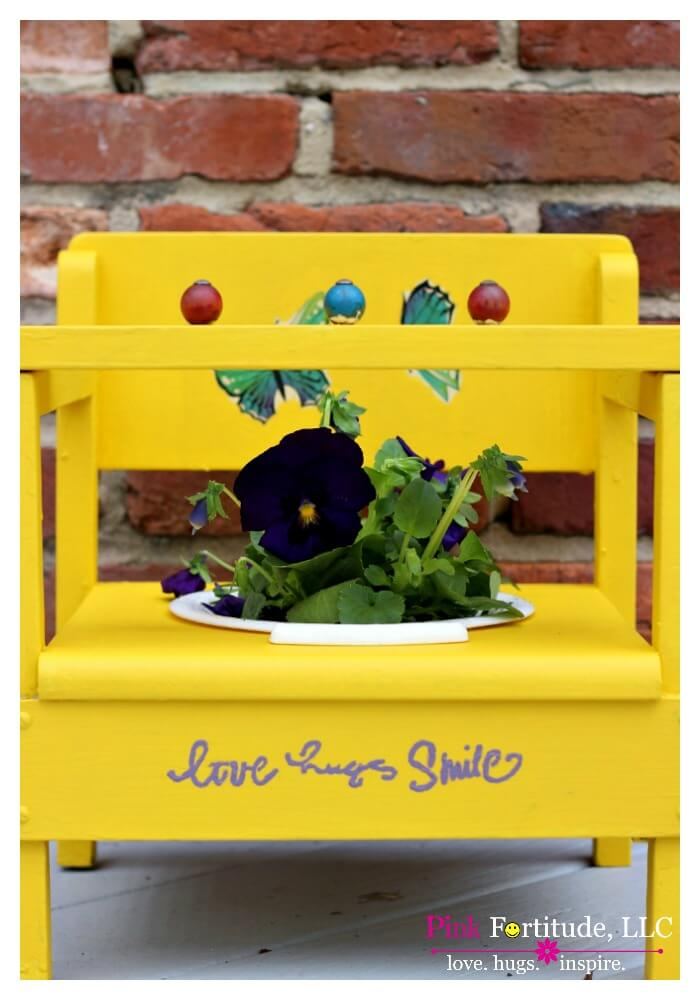 Bright Yellow Vintage Potty-Training Chair