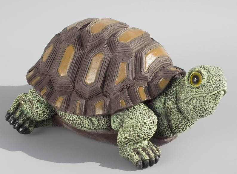 Timid and Timeless Tortoise Garden Statue
