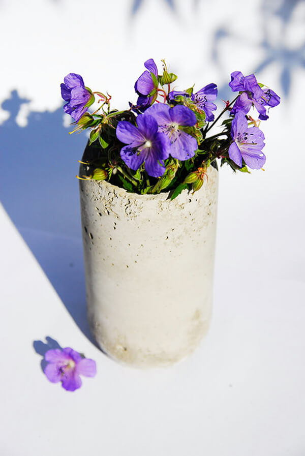 Natural and Rustic Concrete Cylinder Vase