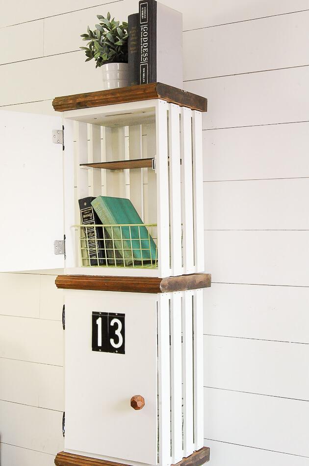 Add a Door for DIY Crate Lockers
