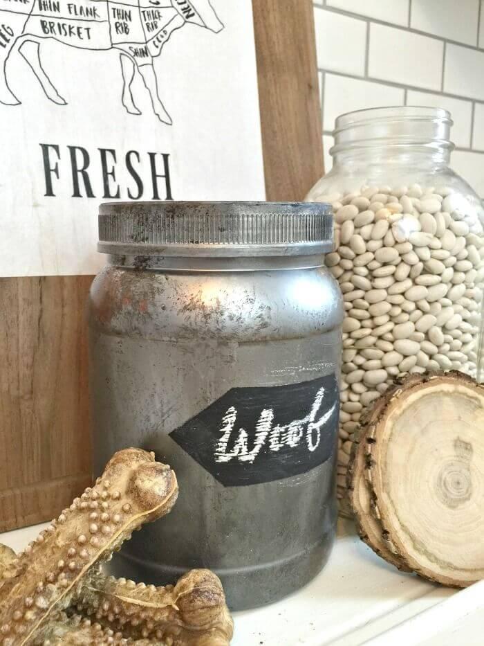 Metallic Painted Jumbo Storage Jars