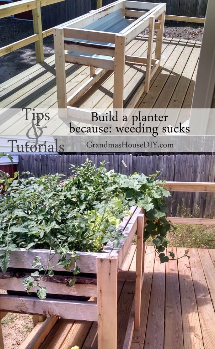 High Elevated, Functional Garden Planter