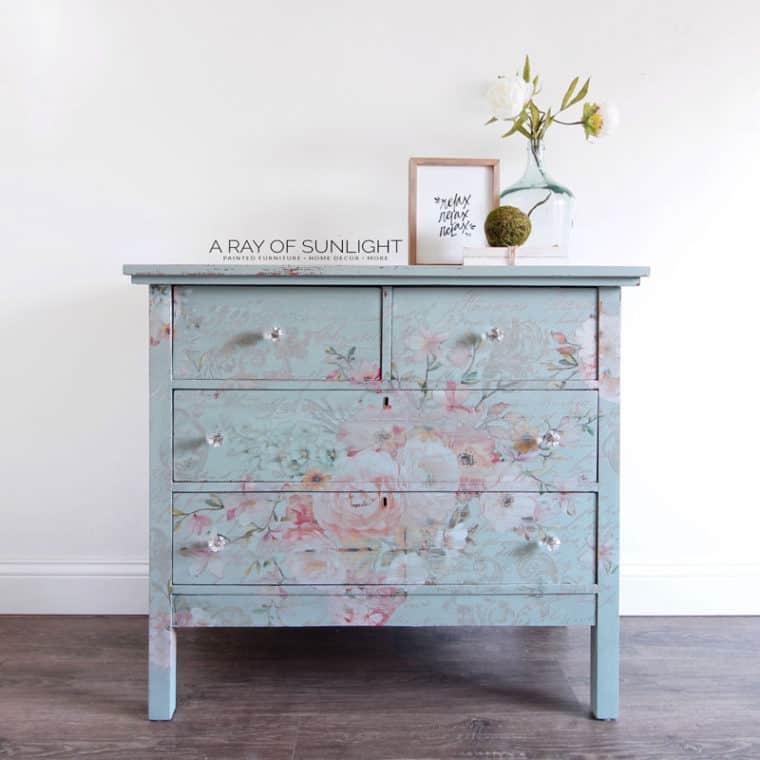 Cool Floral Pattern Dresser Transfer