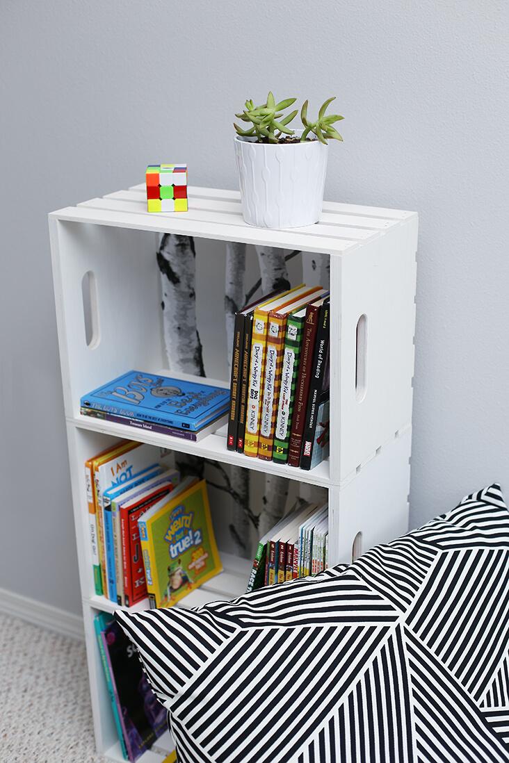 Crate Trio Tower Bedside Bookshelf