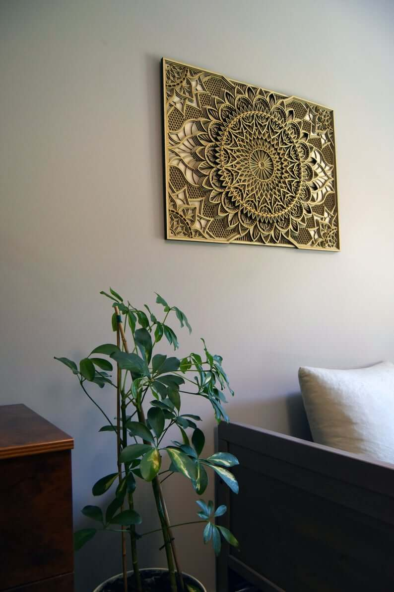 Layered Mandala Intricate Wooden Wall Art