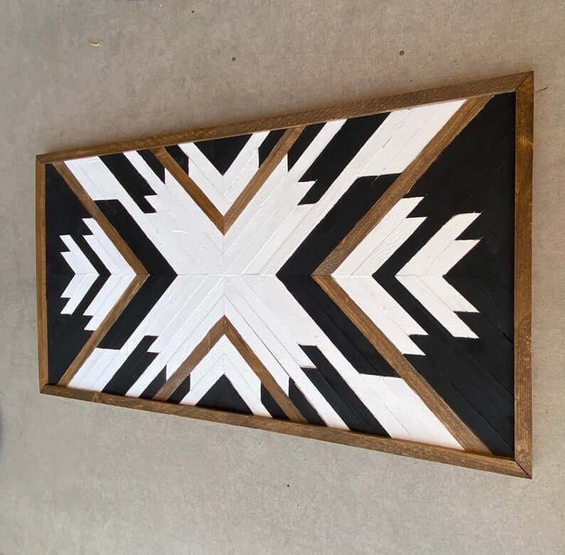 Geometric Chevron Wood Wall Ar