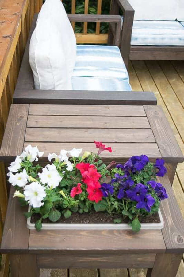 Planter Box in an End Table