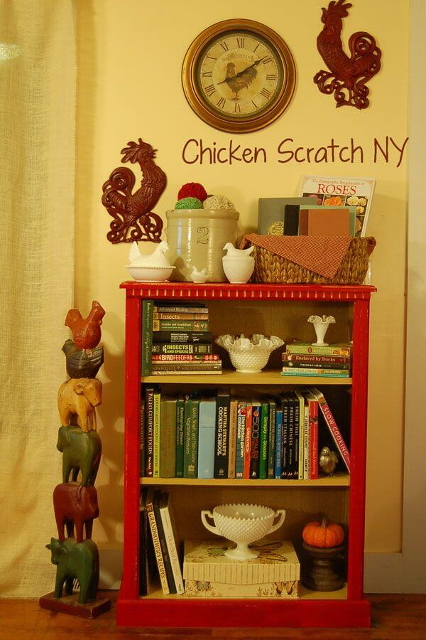 Really Red Painted Laminate Bookcase