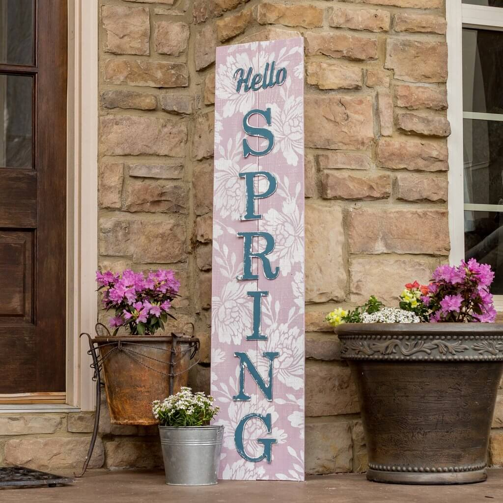 Old Fashioned Floral Textured Hello Spring